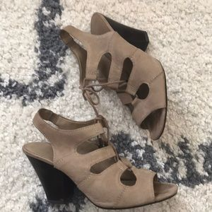 Franco sarto lace up gladiator heels